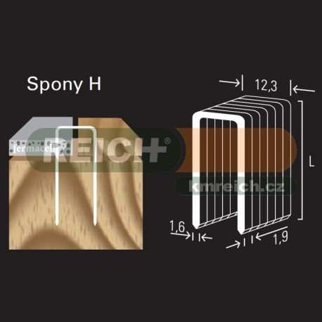 Sponka REICH by Holz-her H 12.3mm (45 H GALV CP Z)