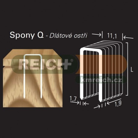 Sponka REICH by Holz-her Q 11.1mm (50 H GALV CP Z)