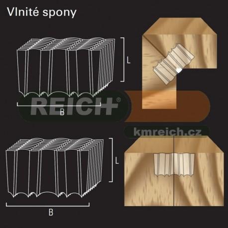 Vlnitá Sponka (vlnka) REICH by Holz-her (25x9)