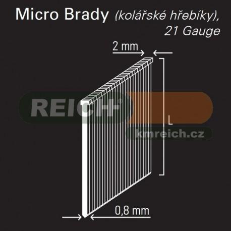 Hřebík micro Brad REICH by Holz-Her 0,8mm (15 BR)