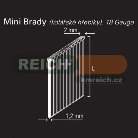 Hřebík mini brad REICH by Holz-Her 1,2mm (16 GALV)
