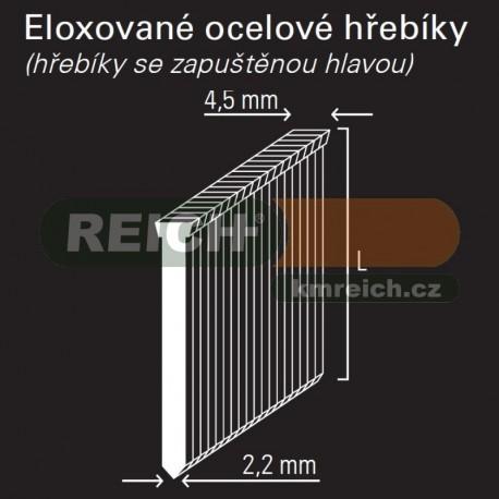 Dokončovácí eloxovaný hřebík REICH by Holz-Her 2,2mm (32 ALU)