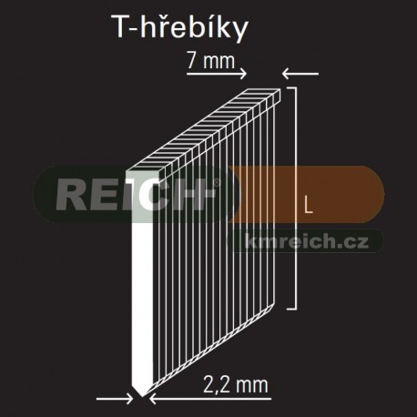 T-hřebík REICH by Holz-Her 2,2mm (38 GALV)