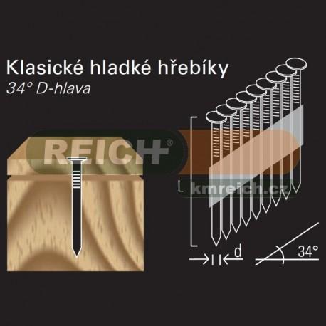 Hladký hřebík v páse REICH by Holz-Her papír 34° (2,8 x 64 H BK)