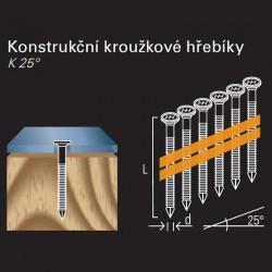 Kotevní Anker hřebík REICH by Holz-Her plast 25° (4,0 x 60 GALV E)