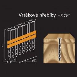Vrtákový hřebík REICH by Holz-Her plast 20° (3,2 x 90 H BK)