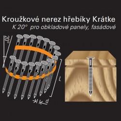 Konvexní hřebík nerezový ve svitku REICH by Holz-Her plast 20° (2,2/2,5 x 37 BK) fasádní