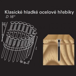 Hladký hřebík ve svitku REICH by Holz-Her drát 16° (2,8 x 80 H BK)