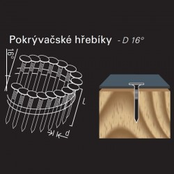 Hladký hřebík ve svitku REICH by Holz-Her drát 16° (3,0 x 22 GALV) na střešní krytinu