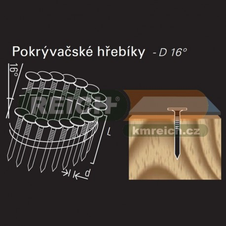 Hladký hřebík ve svitku REICH by Holz-Her drát 16° (3,0 x 25 A2) na střešní krytinu
