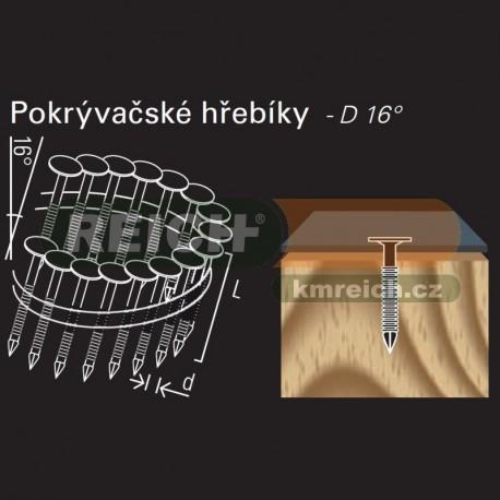 Konvexní kroužkový hřebík ve svitku REICH by Holz-Her drát 16° (3,0 x 19 GALV) na střešní krytinu