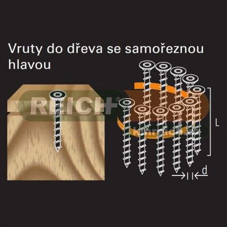 Vrut celozávit ve svitku REICH by Holz-Her TX-20 (4,0x 40 GALV) do dřeva